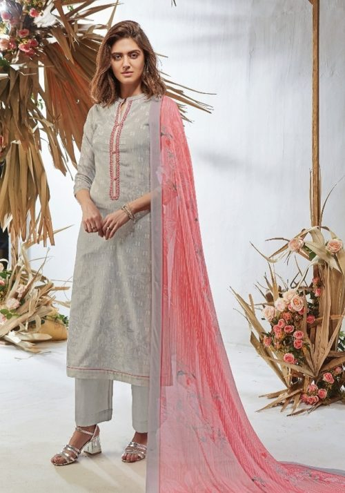 Esta Design Presents Gesture Digital Printed Cotton Lawn With Embroidery & Beads Work Salwaar Suits 06