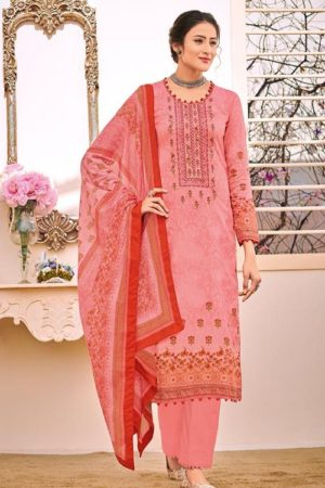 House Of Lawn Naitra Pure Jam Satin Print With Designer Embroidery Suit 103