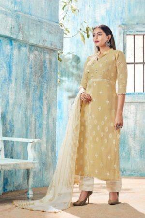 Jay Vijay Presents Intrigue Vol 3 Pure Cotton Block Print With Hand Work Salwaar Suit 4603