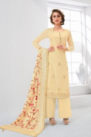 Jinaam Presents Eidi Collection Cotton Silk Embroidered With Hand Work Touch Salwaar Suit 8892