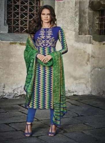 Jinaam Presents Roma Pure French Crepe With Embroidery Salwaar Suit 6545
