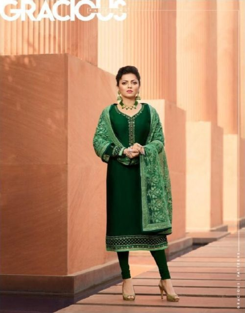 LT Nitya Presents Vol 141 Satin Georgette With Embroidery And Work Salwaar Suit 4103