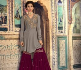 Buy Maisha Presents Riwaayat Mother Collection Rangoli Georgette/Net (Semi Stitched) With Embroidery And Work Suits 6901