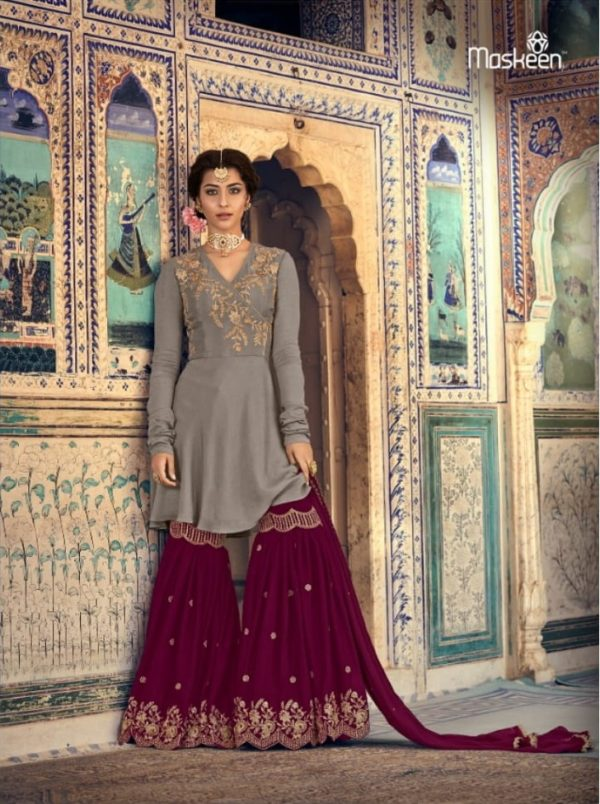 Maisha Presents Riwaayat Mother Collection Rangoli Georgette Net (Semi Stitched) With Embroidery And Work Suit 6901