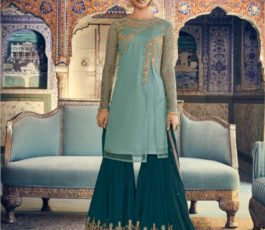 Buy Maisha Presents Riwaayat Mother Collection Rangoli Georgette/Net (Semi Stitched) With Embroidery And Work Suits 6902