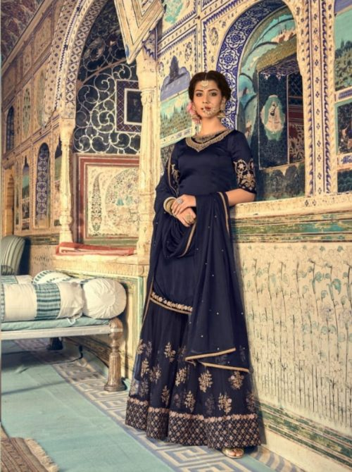 Maisha Presents Riwaayat Mother Collection Rangoli Georgette Net (Semi Stitched) With Embroidery And Work Suits 6906
