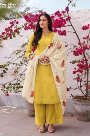 Omtex Presents Gardenia Lawn Cotton Salwaar Kameez 702