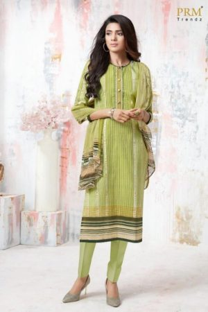PRM Trendz Presents Moon Sign Pure Cotton Lawn Digital Printing With Embroidery Work Salwaar Suit 3101