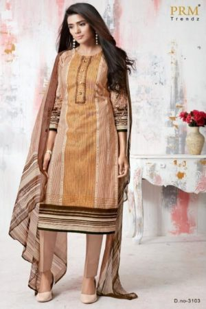 PRM Trendz Presents Moon Sign Pure Cotton Lawn Digital Printing With Embroidery Work Salwaar Suit 3103