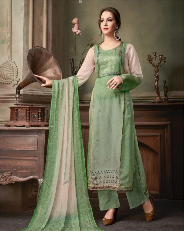 SRI Presents Astonished Fine Cotton Silk With Hand Work Salwaar Suits 1053
