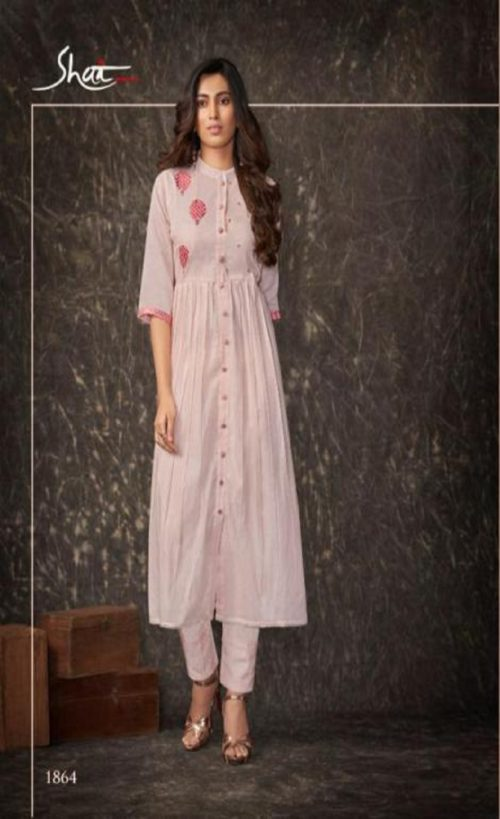 Shai Presents Dreamiss Pure Cotton Mal Embroidered With HandWork With Inner Kurti With Plazzo 1864