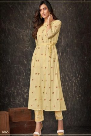 Shai Presents Dreamiss Pure Cotton Mal Embroidered With HandWork With Inner Kurti With Plazzo 1865