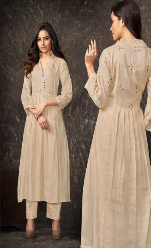Shai Presents Dreamiss Pure Cotton Mal Embroidered With HandWork With Inner Kurti With Plazzo 1871