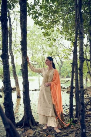 Varshaa Fashion Presents Flavours Of Fusion Kora Weaving With Embroidery Salwaar Suit 08