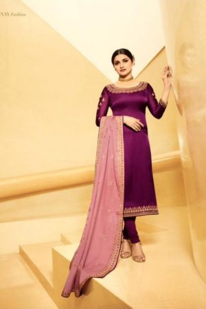 Vinay Fashion Presents Kasheesh Dua Satin Georgette With Embroidery Work Salwaar Suits 10503