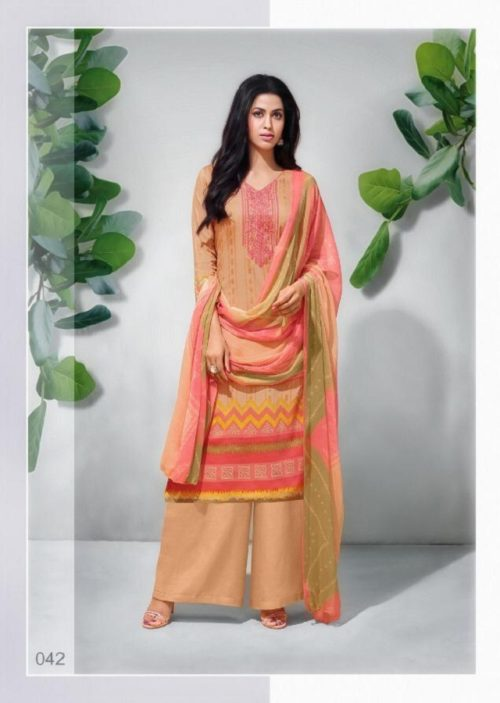 Angroop Plus Presents Essence pure jam Silk Print With Embroidery Salwar Suit 042