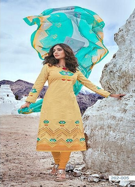 Belliza Designer Studio Presents Nazrana Summer Ladakh Edition Pure Premium Cotton Digital Style Print Suits 262-005