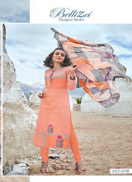 Belliza Designer Studio Presents Nazrana Summer Ladakh Edition Pure Premium Cotton Digital Style Print Suits 262-008
