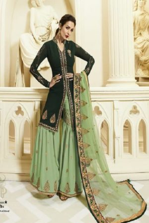 Buy Fiona Present Maliaka Sharara Georgette With Heavy Embroidery Suit 22033