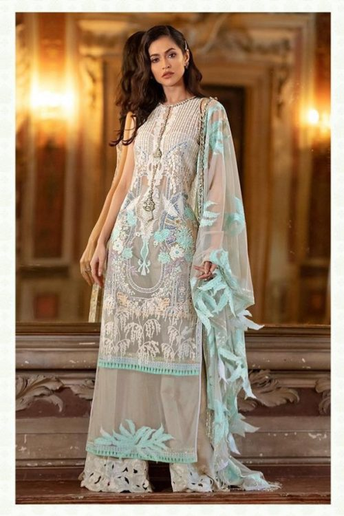 Deepsy Presents Sana Safinaz Lawan 19 Pure Cotton N Butterfly Net With Heavy Embroidery Suit 900-005