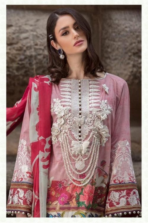 85fa1c97fc Deepsy Presents Sana Safinaz Lawan 19 Pure Cotton N Butterfly Net With Heavy  Embroidery Suits 900