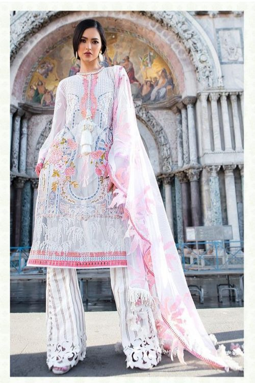 Deepsy Presents Sana Safinaz Lawan 19 Pure Cotton N Butterfly Net With Heavy Embroidery Suits 900-008