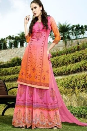 Hansa Husna Ara Georgette Digital Printed With Embroidery Suits 1003