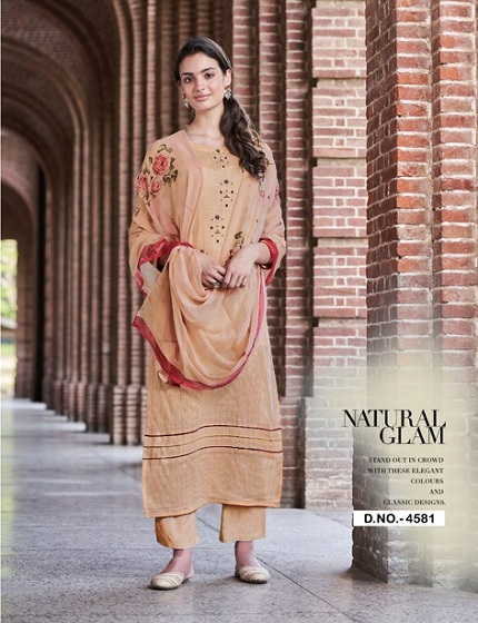 Jay Vijay Presents Enliven Pure Dobby Cotton With Embroidery & Hand Work Suits 4581