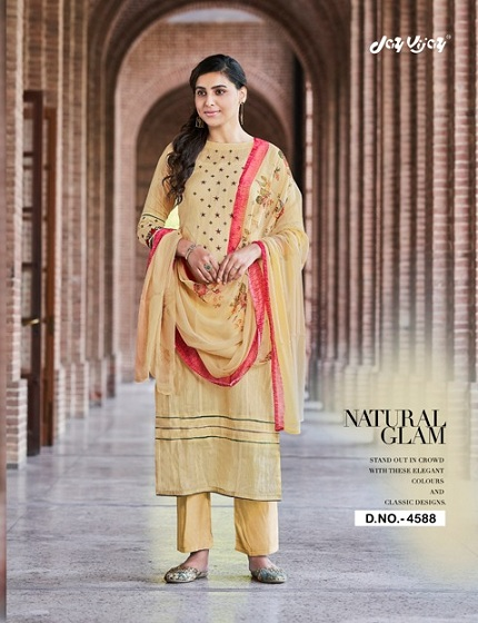 Jay Vijay Presents Enliven Pure Dobby Cotton With Embroidery & Hand Work Suits 4588