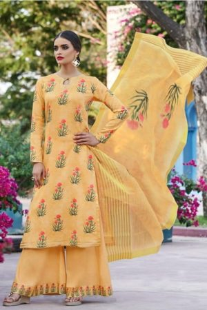 Jinaam Presents Taima Digitally Printed Cotton Satin Suit 8910 - Copy