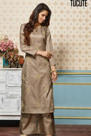 Karma Presents Tucute Pure Silk Kurtis With Palazzo TC-383