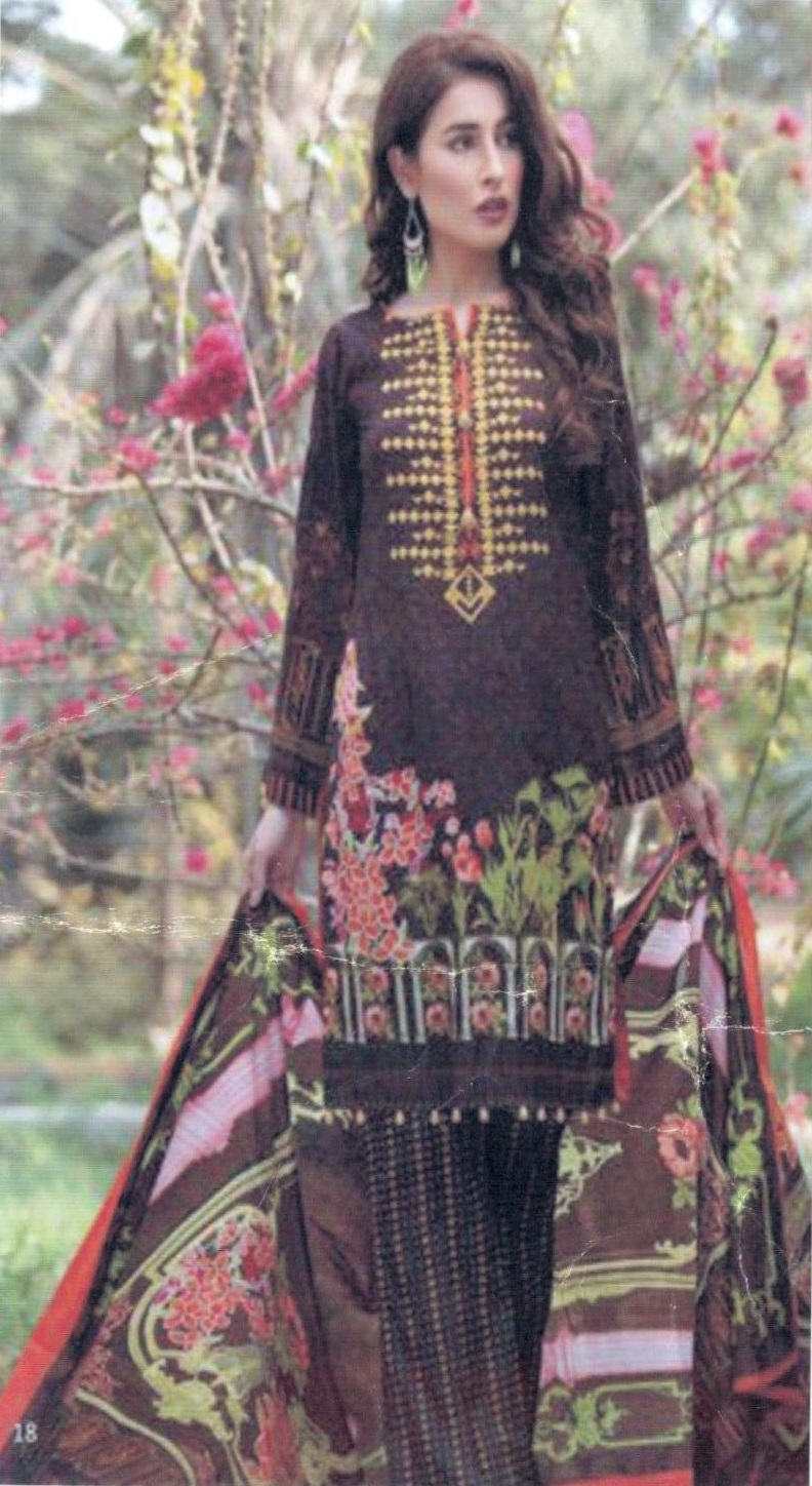 7f35445caf Buy Original Pakistani Anum Printed Lawn Salwar Suit 7A | Attri ...