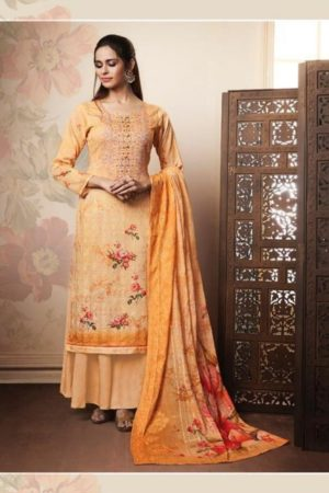 Relssa Fabrics Presents Kimaya Pure Superior Cotton Digital Print With Sequence Embroidery Work Suit 5903