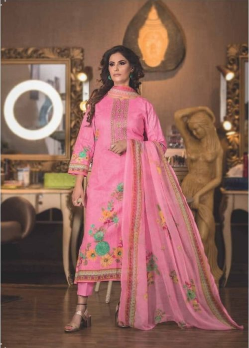 Rivaa Presents Rasika Pure Cotton With Heavy Designer Embroidery Salwar Suits 1423 a