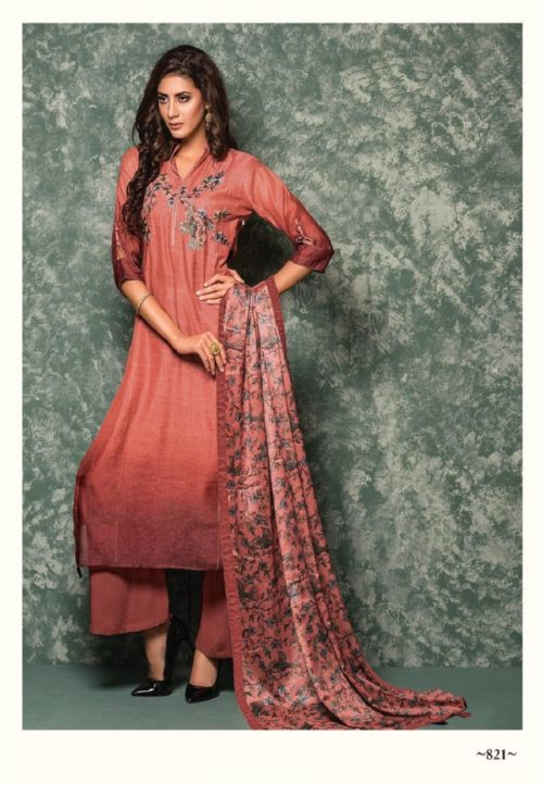 SRI Presents Priyam Chanderi silk With Embroidery Work Salwar Suits 821