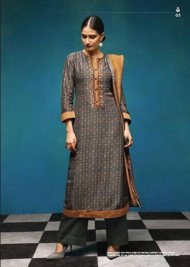 Sahiba Presents Vintage Chanderi Digital Print With Embroidery Salwaar Suit 03