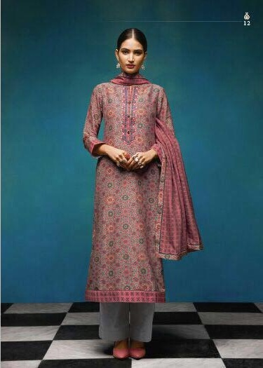 Sahiba Presents Vintage Chanderi Digital Print With Embroidery Salwaar Suit 12