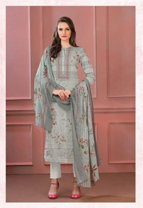 Sahiba Sudrit Presents Timeless Flower Cotton Digital Print With Embroidery salwar suit 225