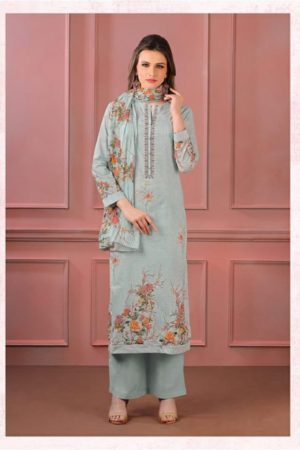 Sahiba Sudrit Presents Timeless Flower Cotton Digital Print With Embroidery salwar suit 245
