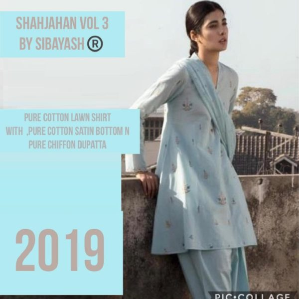 Sibayash Presents Shahjahan Vol 3 Pure Cotton Lawn With Print Salwar Suits S-4