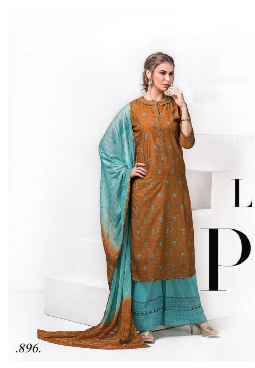 Sri Presents Lavanya Chanderi Silk With Heavy Khatli Work Suits 896