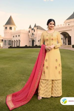 Vinay Fashion Presents Kasheesh Benchmark Georgette Silk With Embroidery Suit 10594