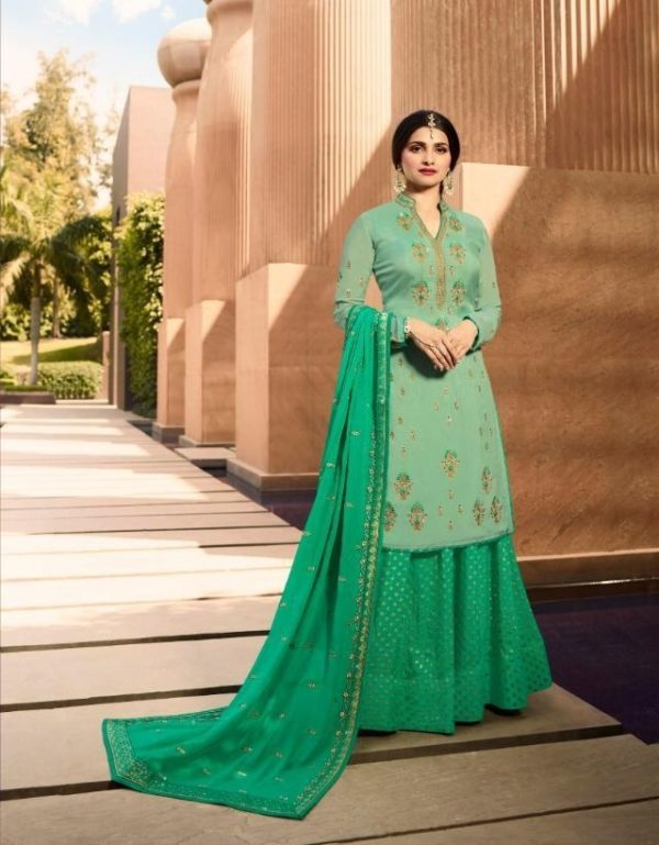 Vinay Fashion Presents Kasheesh Benchmark Georgette Silk With Embroidery Suit 10596