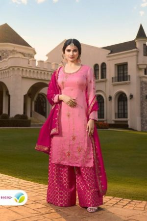 Vinay Fashion Presents Kasheesh Benchmark Georgette Silk With Embroidery Suits 10592