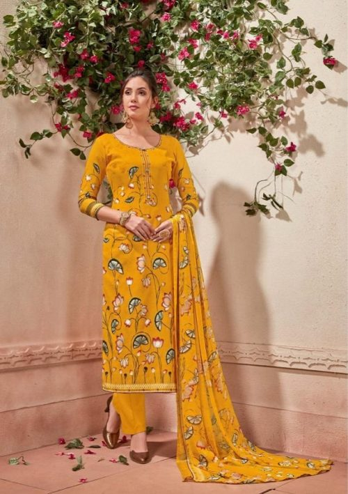 Zulfat Designer Presents Glamour 3 Pure Cotton Prints Salwaar Suit 115-003