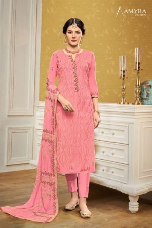 Amyra Present Aaina Heavy Georgette With Heavy Exclusive Embroidery & Fancy Diamond suits 104