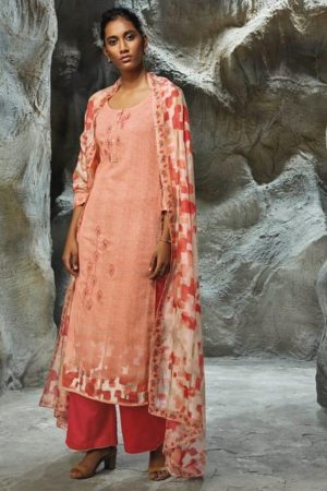 Buy Ganga Lilith Finest Modal Satin Printed With Embroidery Work Salwar Suit 7752
