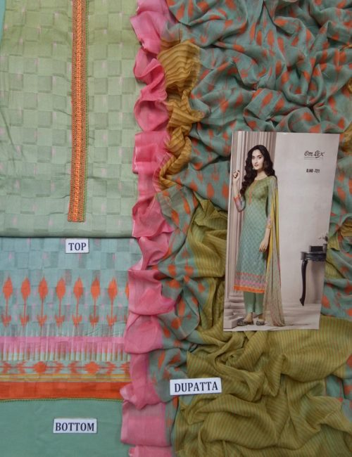 Buy Omtex Aalya Super Fine Digital Print With Embroidery and Handwork Suit 721