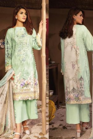 CS Luxury Lawn Block Buster 2 Digital Printed With Heavy Embroidery Salwar Suit C-26B