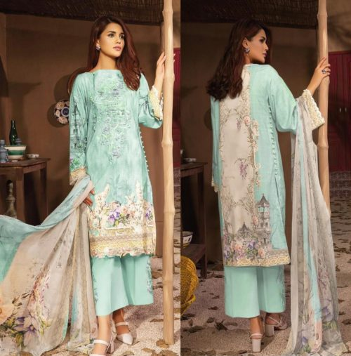 CS Luxury Lawn Block Buster 2 Digital Printed With Heavy Embroidery Salwar Suit C-26D